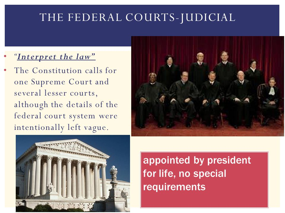 The Federal Courts-Judicial