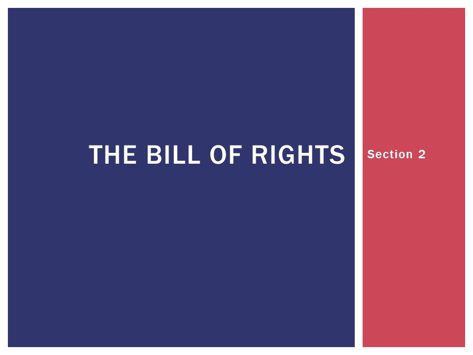The Bill of Rights Section 2
