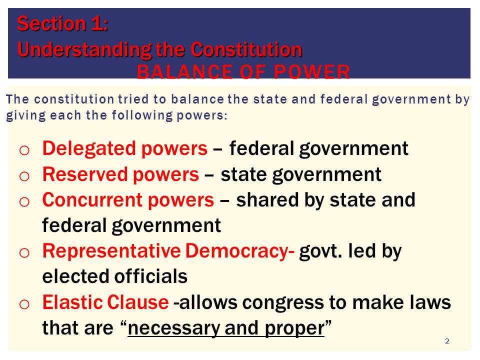 Section 1: Understanding the Constitution