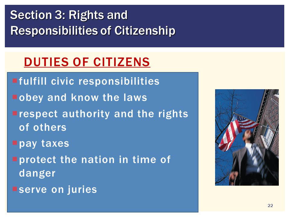 Section 3: Rights and Responsibilities of Citizenship
