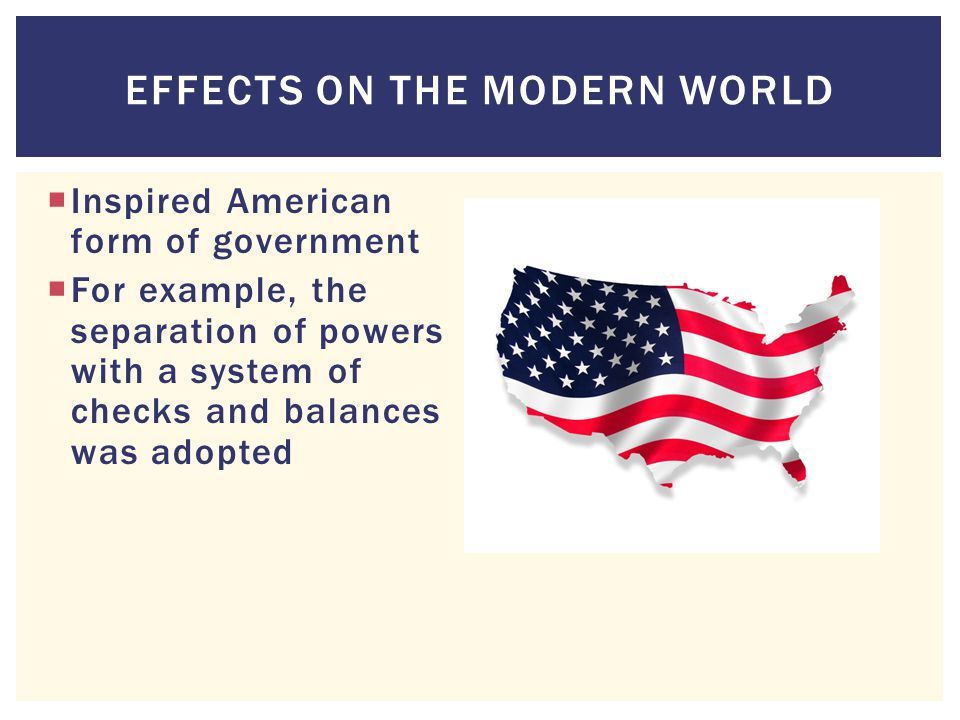 Effects on the modern world