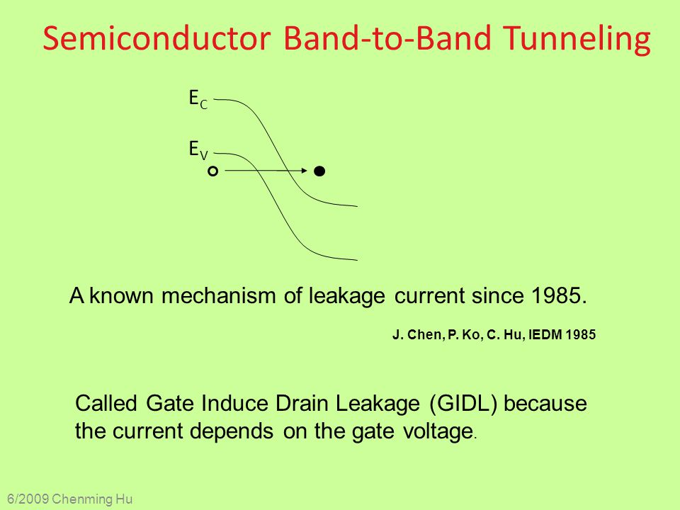 Semiconductor Band-to-Band Tunneling