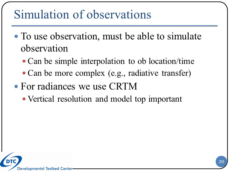 Simulation of observations