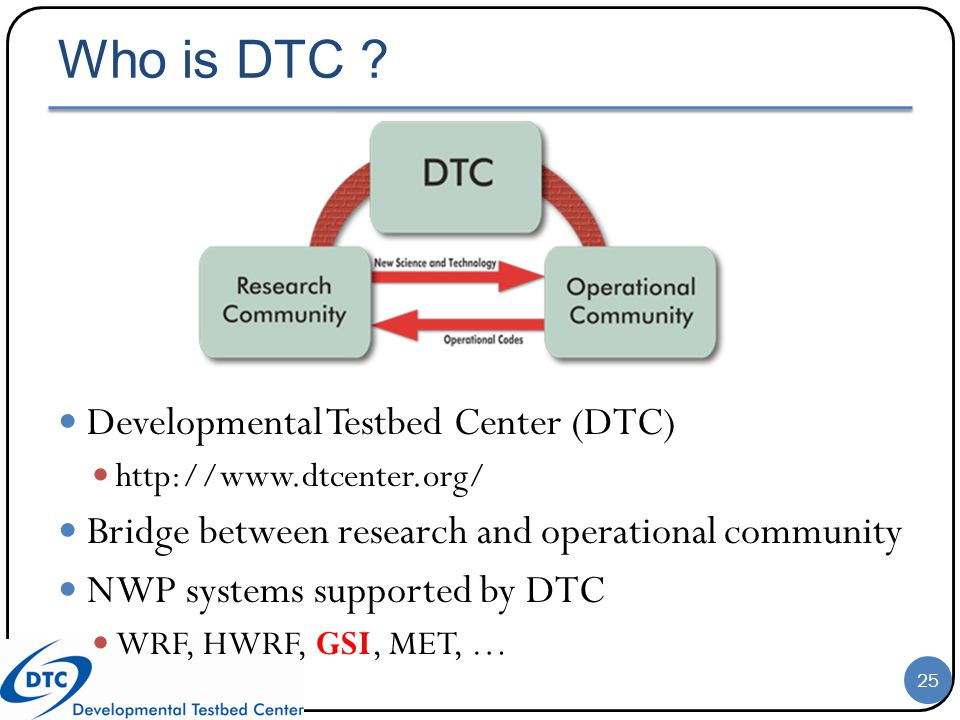 Who is DTC Developmental Testbed Center (DTC)