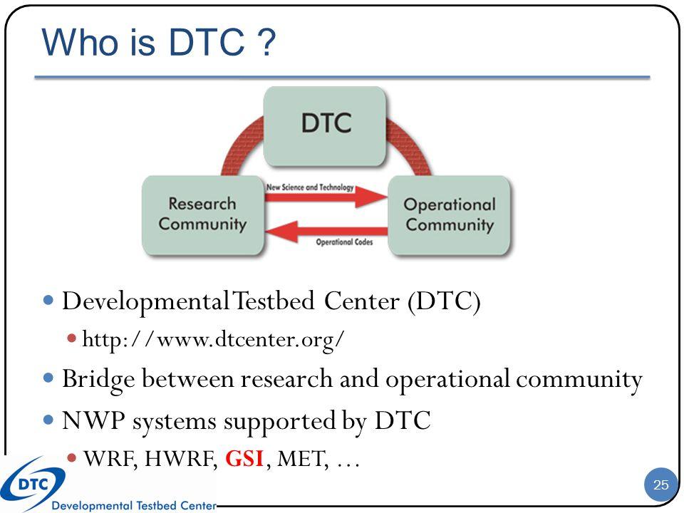 Who is DTC Developmental Testbed Center (DTC)
