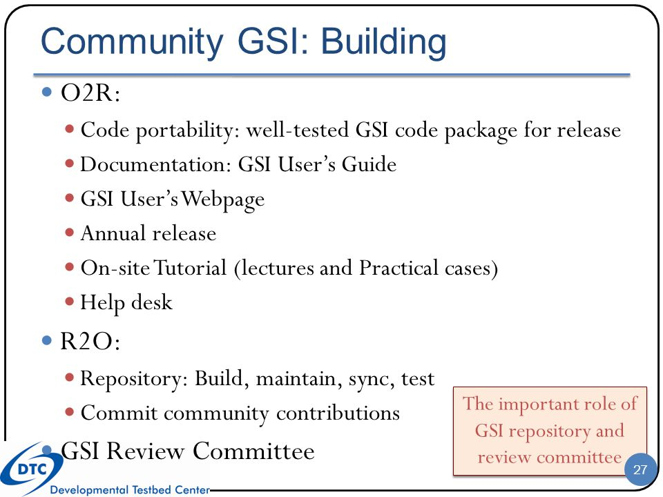 Community GSI: Building