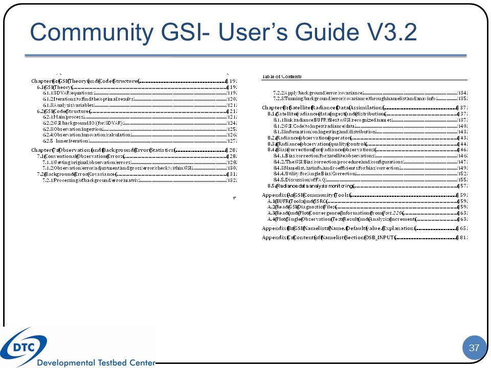 Community GSI- User's Guide V3.2