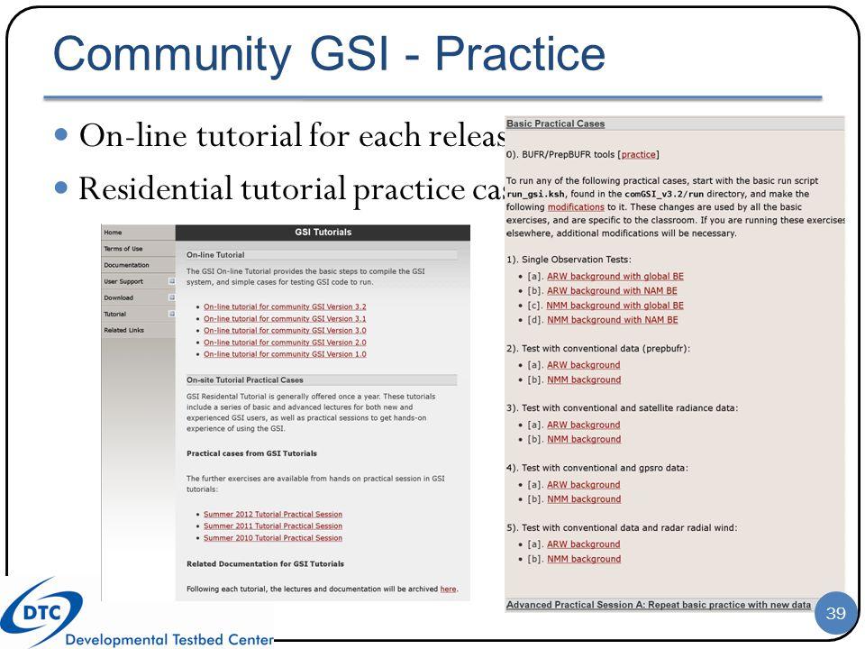 Community GSI - Practice