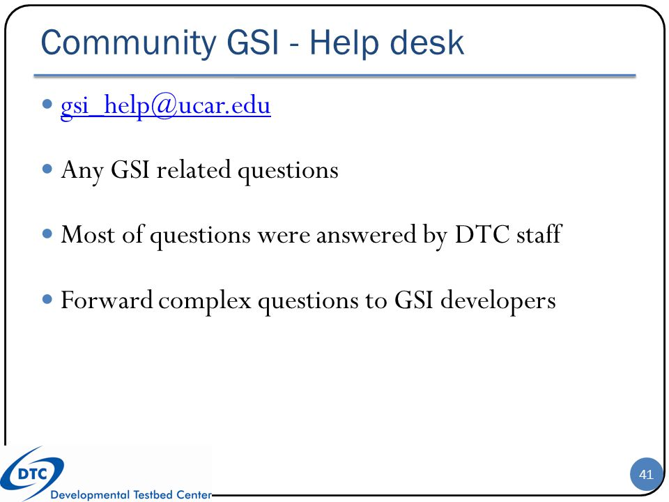 Community GSI - Help desk