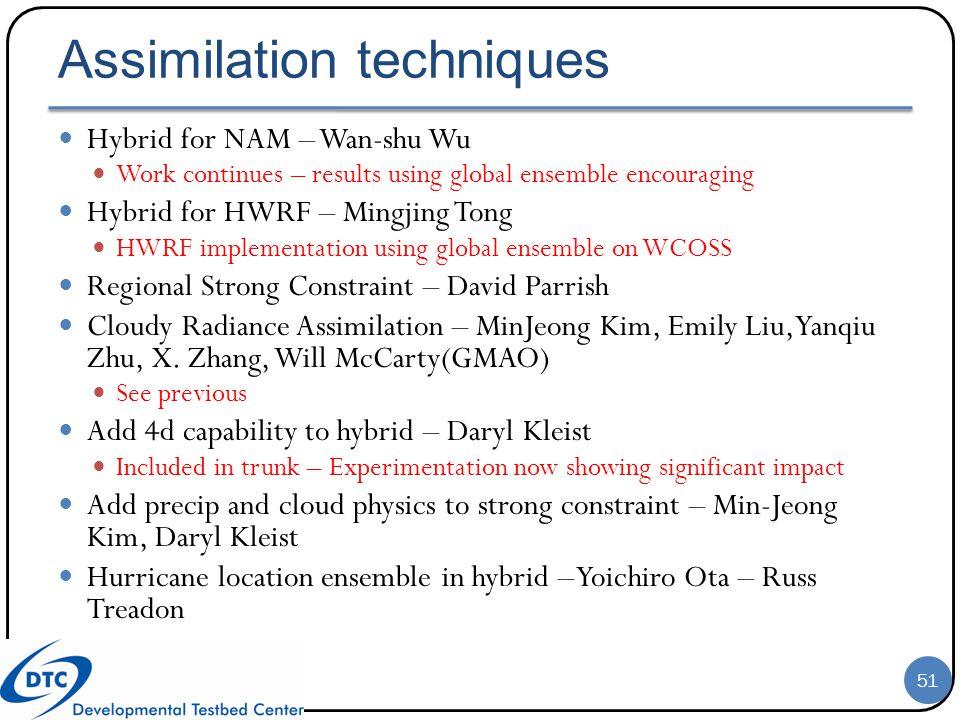Assimilation techniques