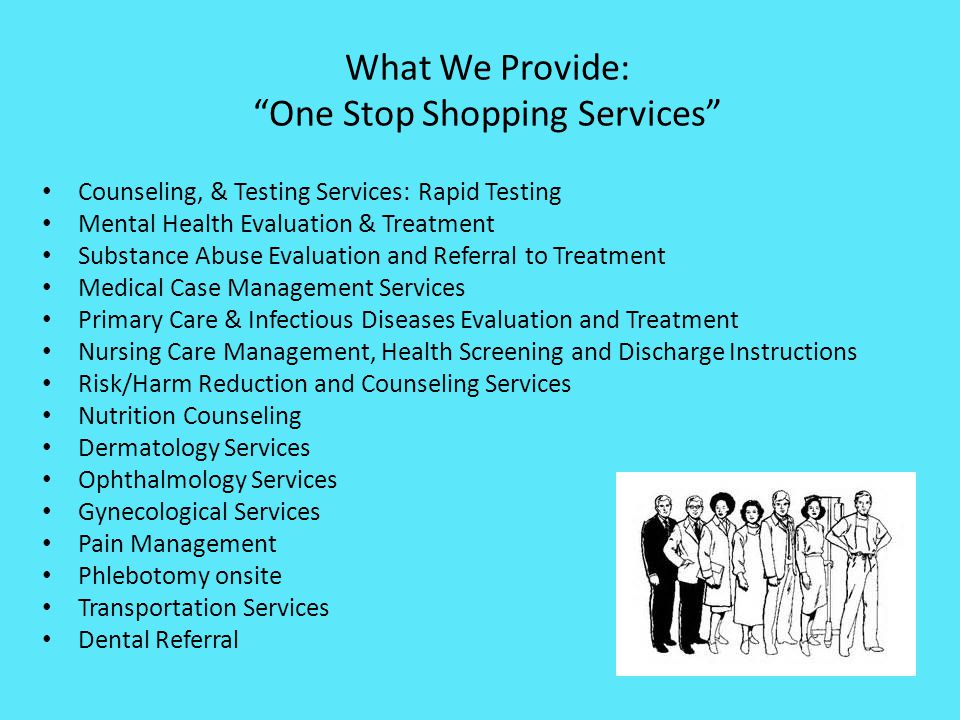 What We Provide: One Stop Shopping Services