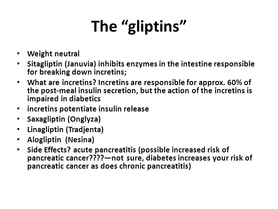 The gliptins Weight neutral