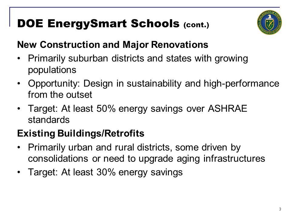 DOE EnergySmart Schools (cont.)