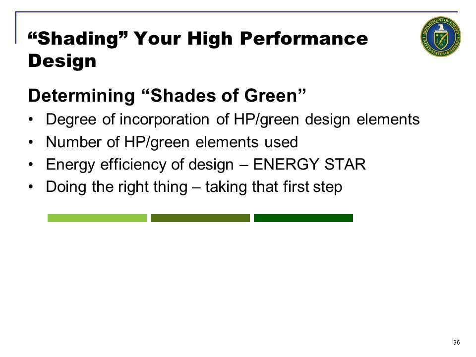 Shading Your High Performance Design