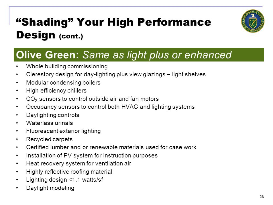 Shading Your High Performance Design (cont.)