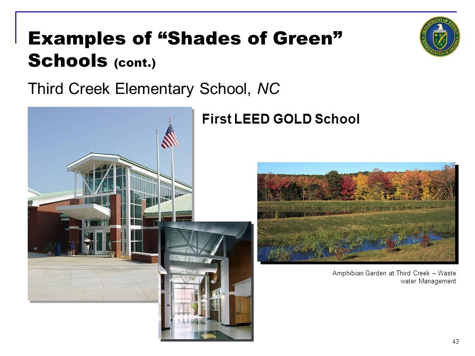 Examples of Shades of Green Schools (cont.)
