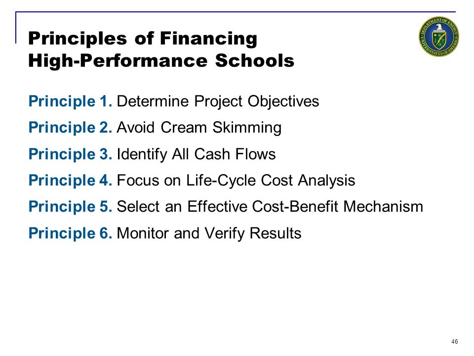 Principles of Financing High-Performance Schools