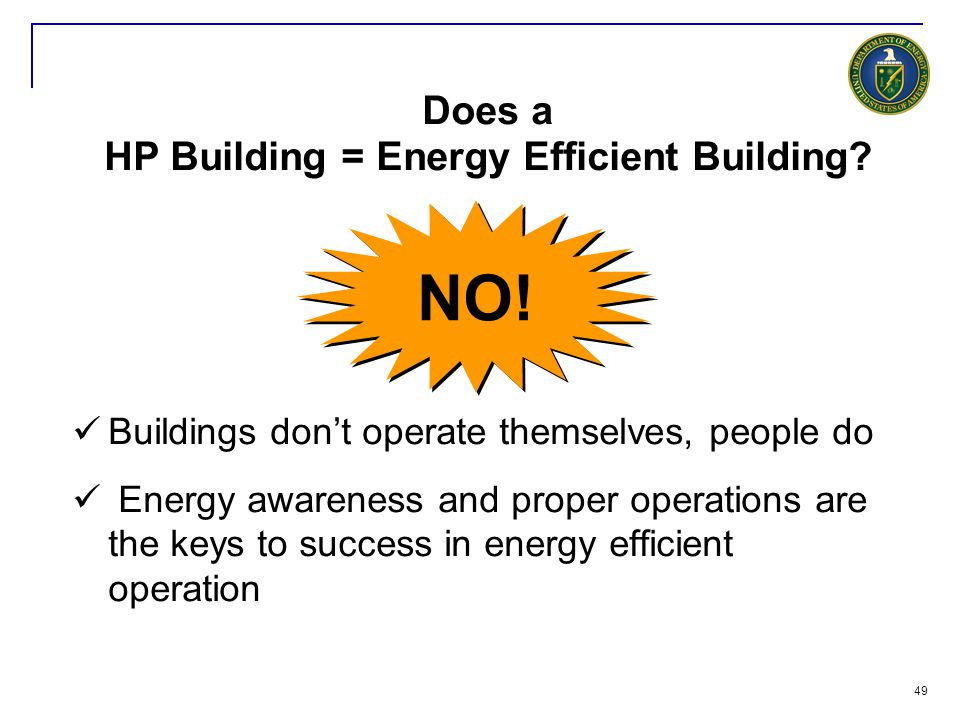 Does a HP Building = Energy Efficient Building