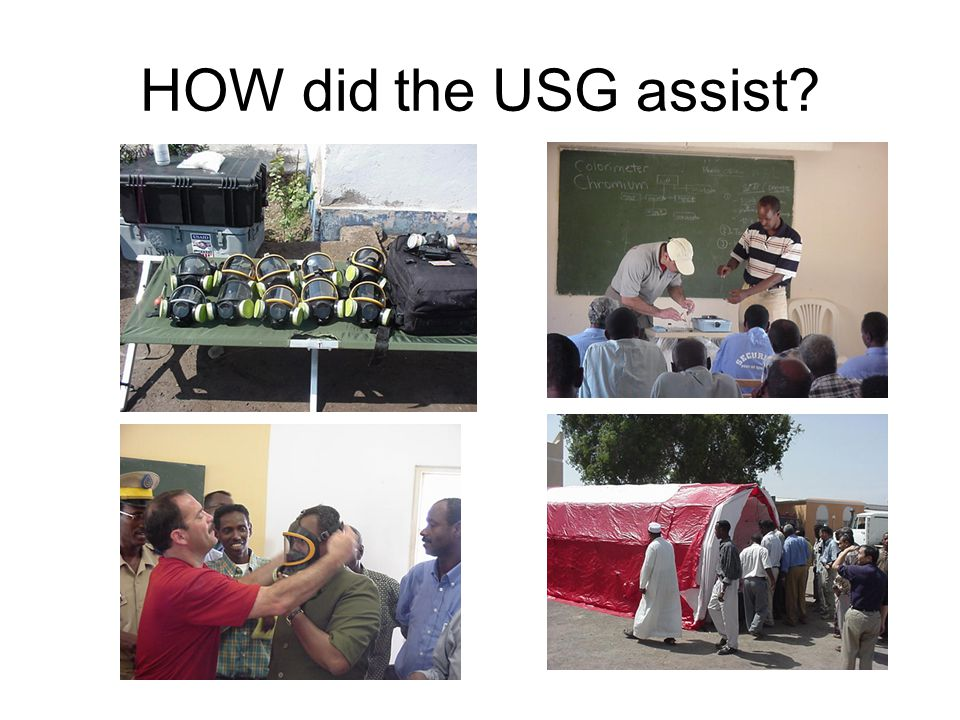 HOW did the USG assist