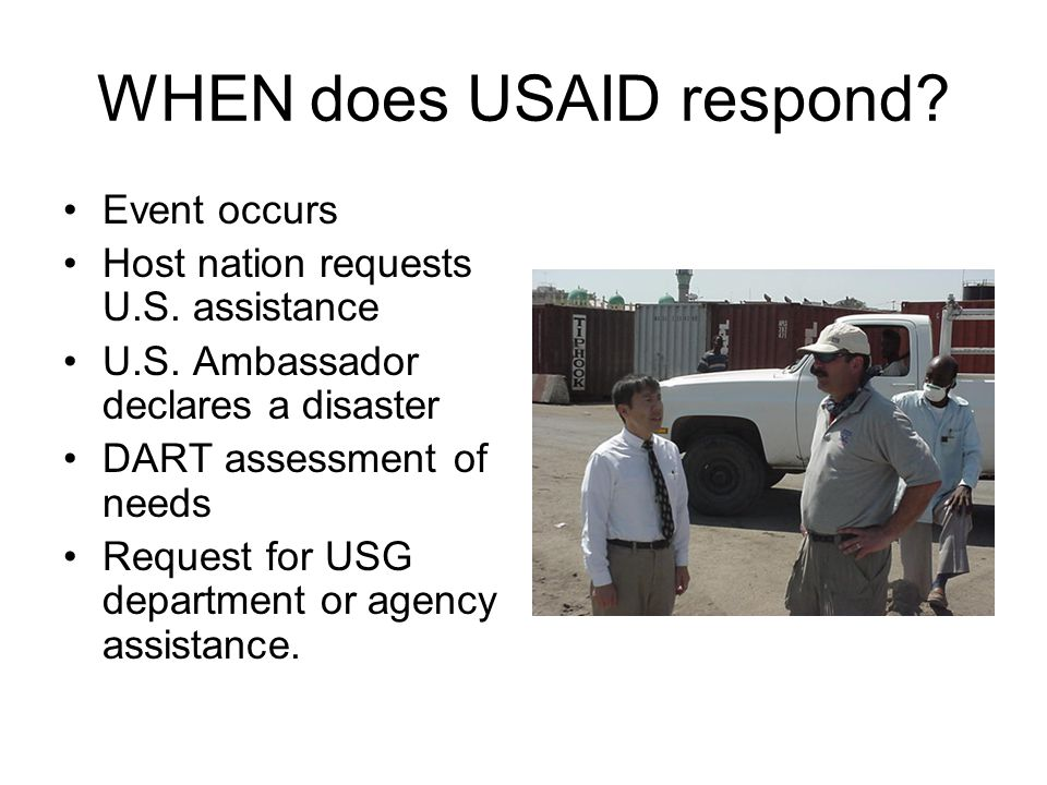 WHEN does USAID respond