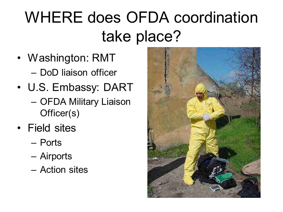 WHERE does OFDA coordination take place