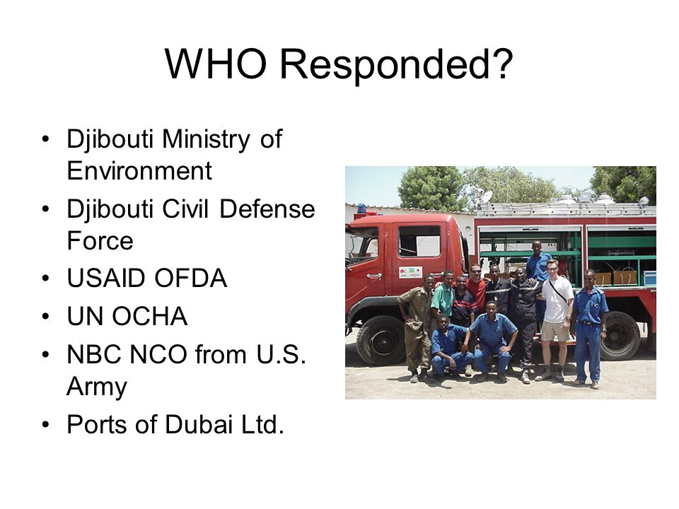 WHO Responded Djibouti Ministry of Environment