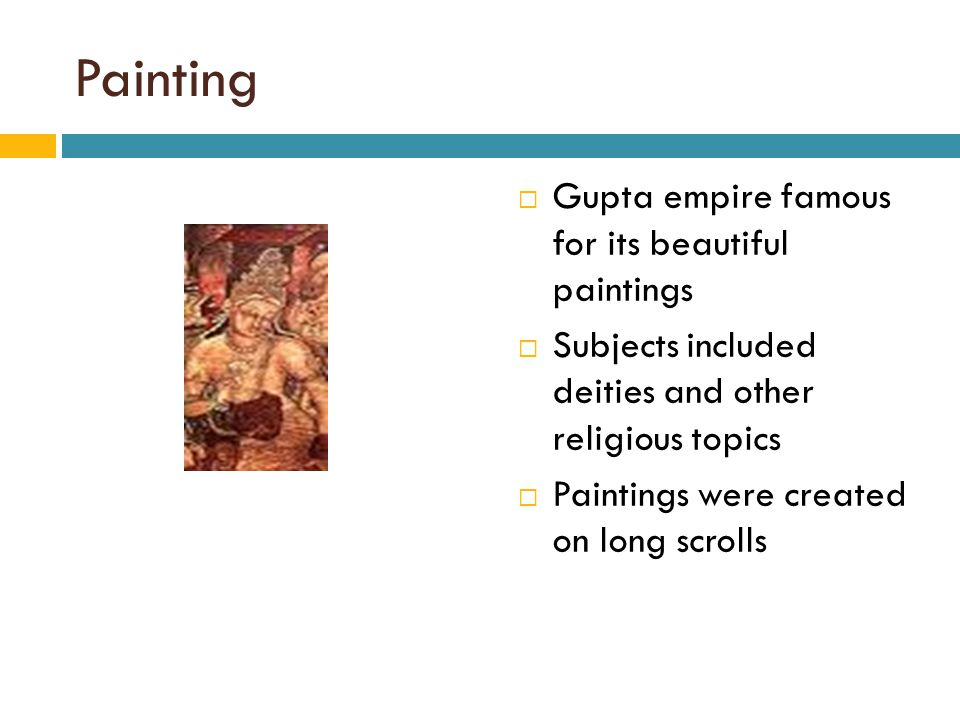 Painting Gupta empire famous for its beautiful paintings