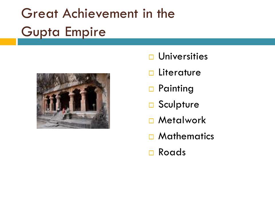 Great Achievement in the Gupta Empire