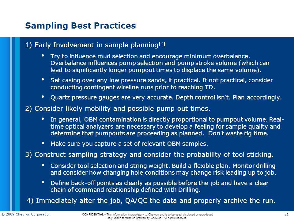 Sampling Best Practices