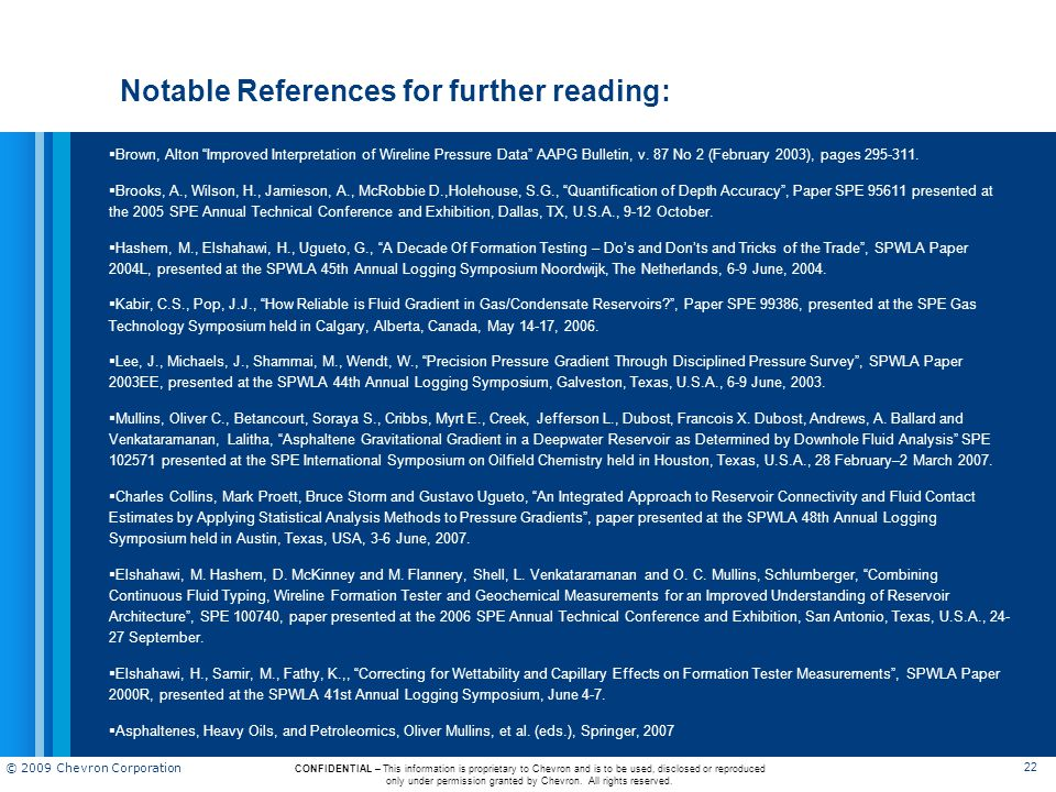 Notable References for further reading: