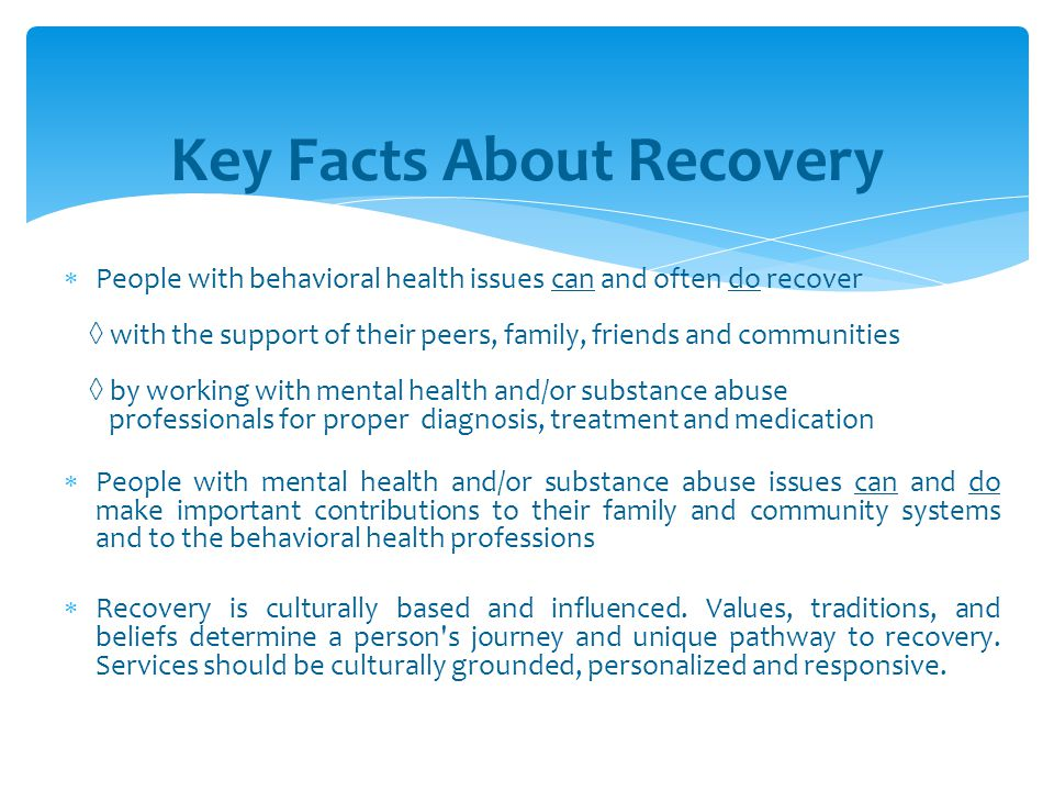 Key Facts About Recovery