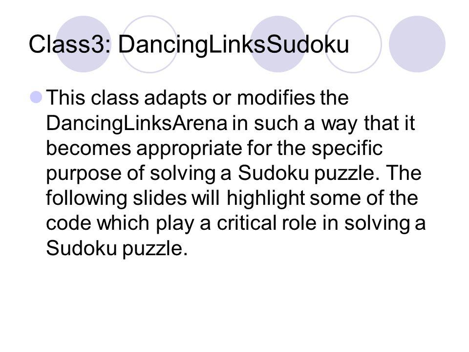 Class3: DancingLinksSudoku
