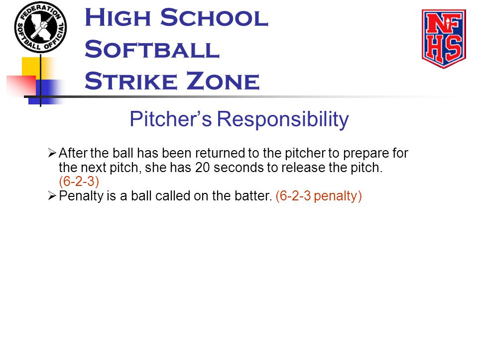 Pitcher's Responsibility