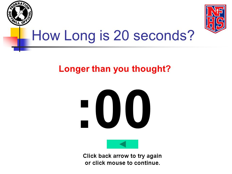 :00 How Long is 20 seconds Longer than you thought