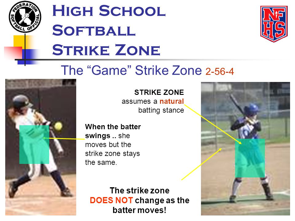 DOES NOT change as the batter moves!