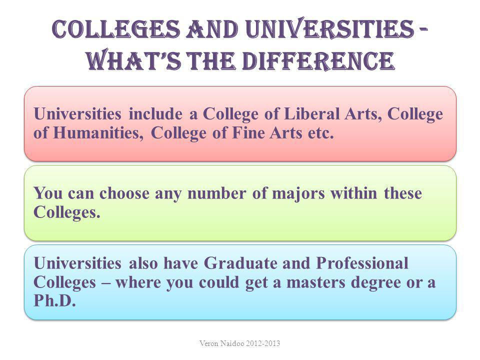 Colleges and Universities - What's the Difference