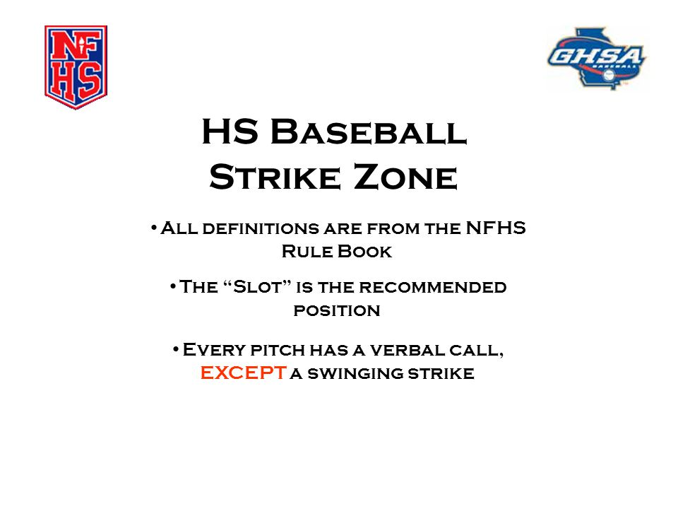HS Baseball Strike Zone