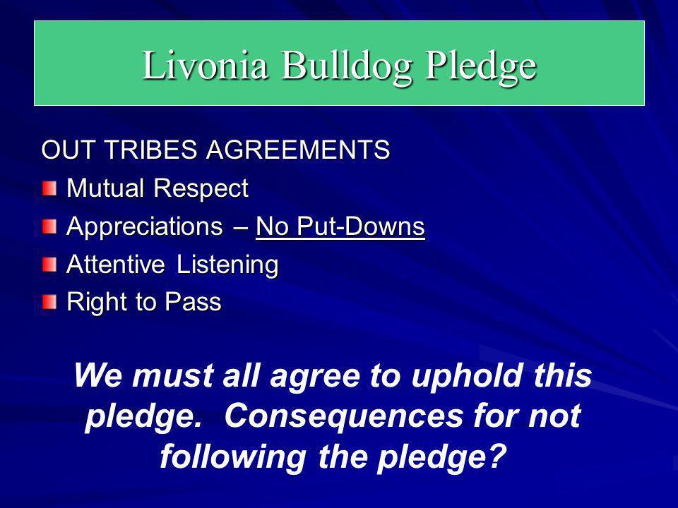 Livonia Bulldog Pledge