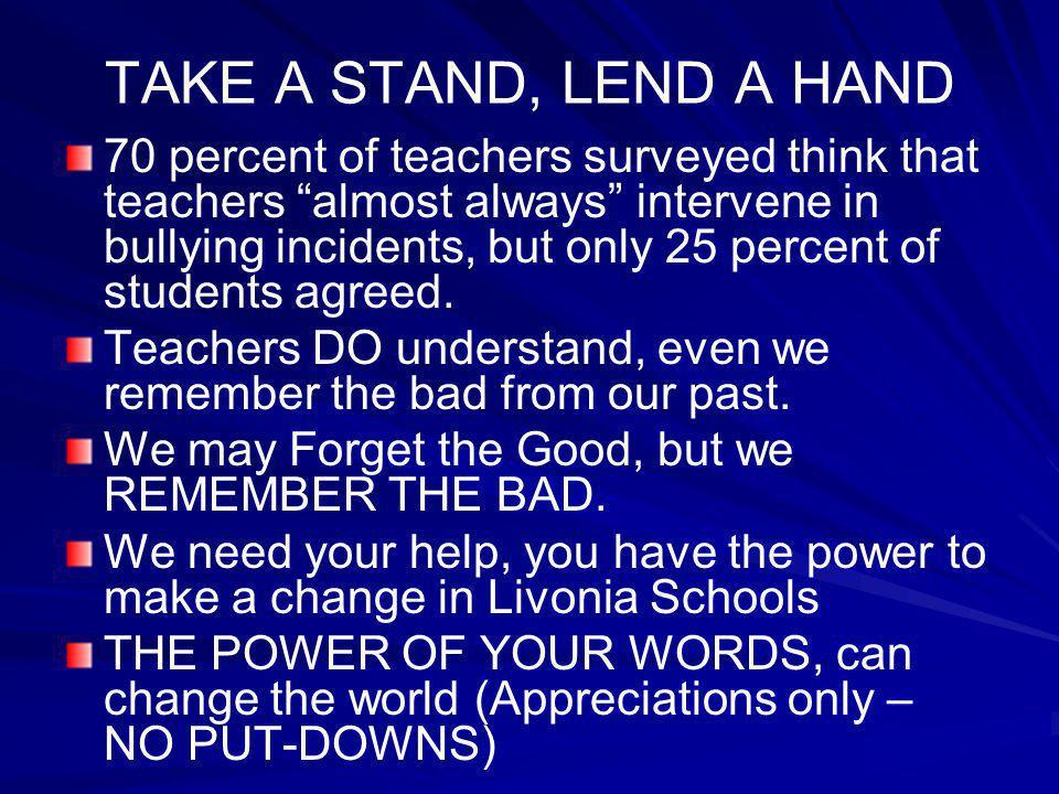 TAKE A STAND, LEND A HAND