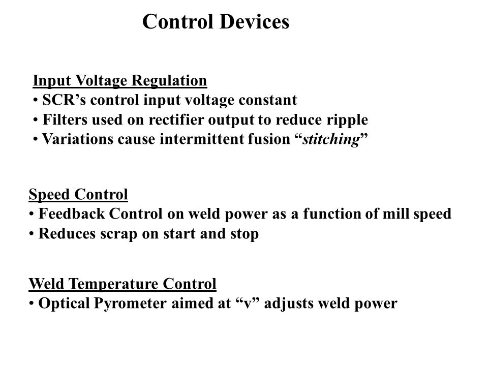 Control Devices Input Voltage Regulation