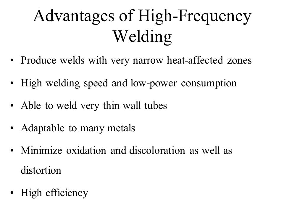 Advantages of High-Frequency Welding