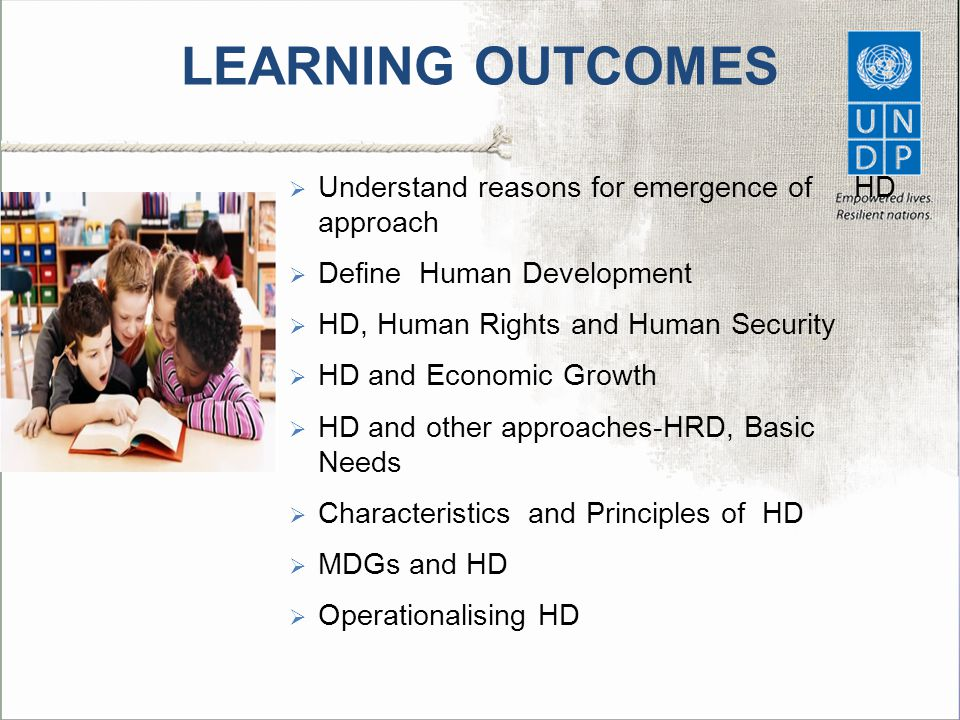 LEARNING OUTCOMES Understand reasons for emergence of HD approach