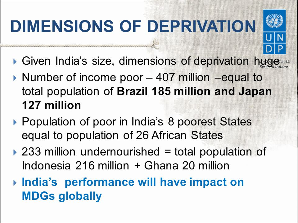 DIMENSIONS OF DEPRIVATION