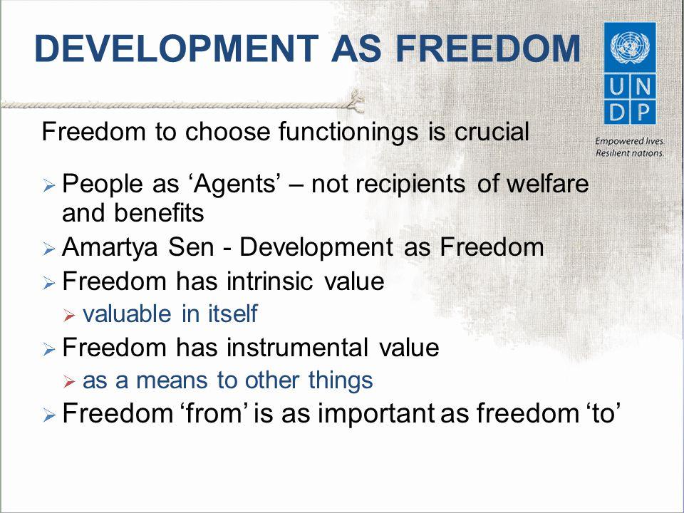 DEVELOPMENT AS FREEDOM