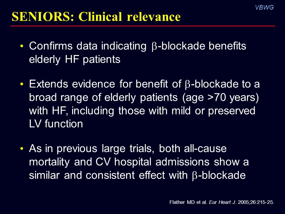 SENIORS: Clinical relevance