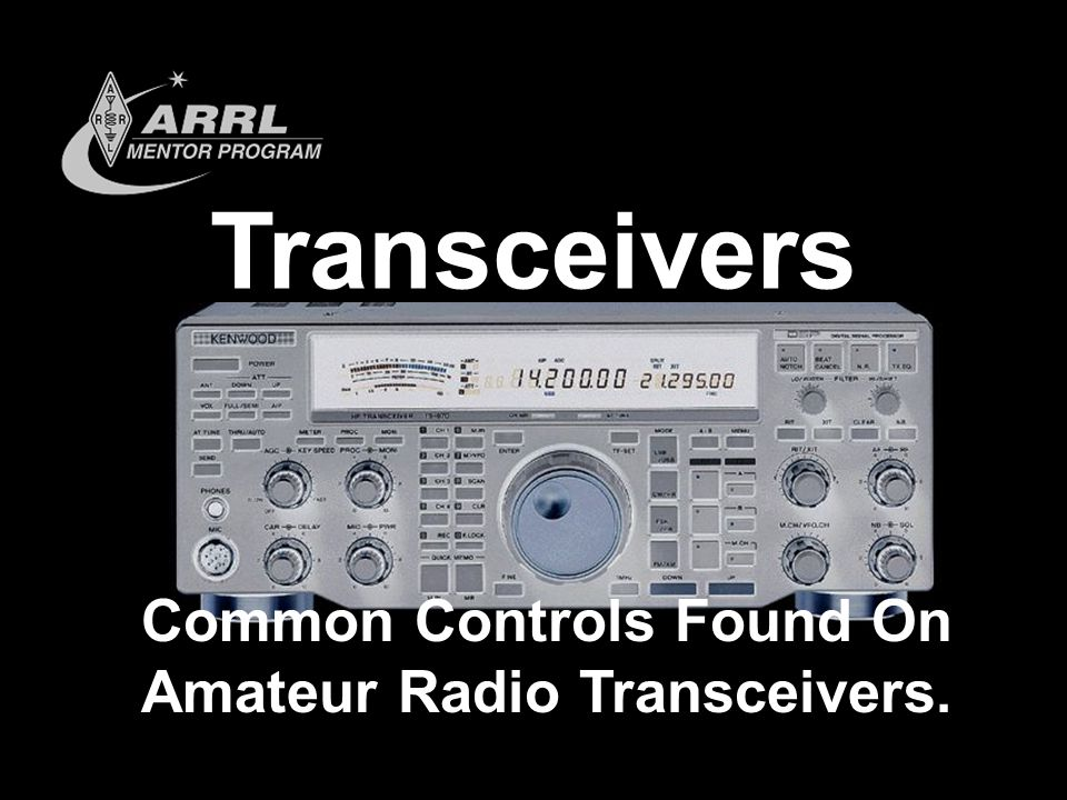 Common Controls Found On Amateur Radio Transceivers.