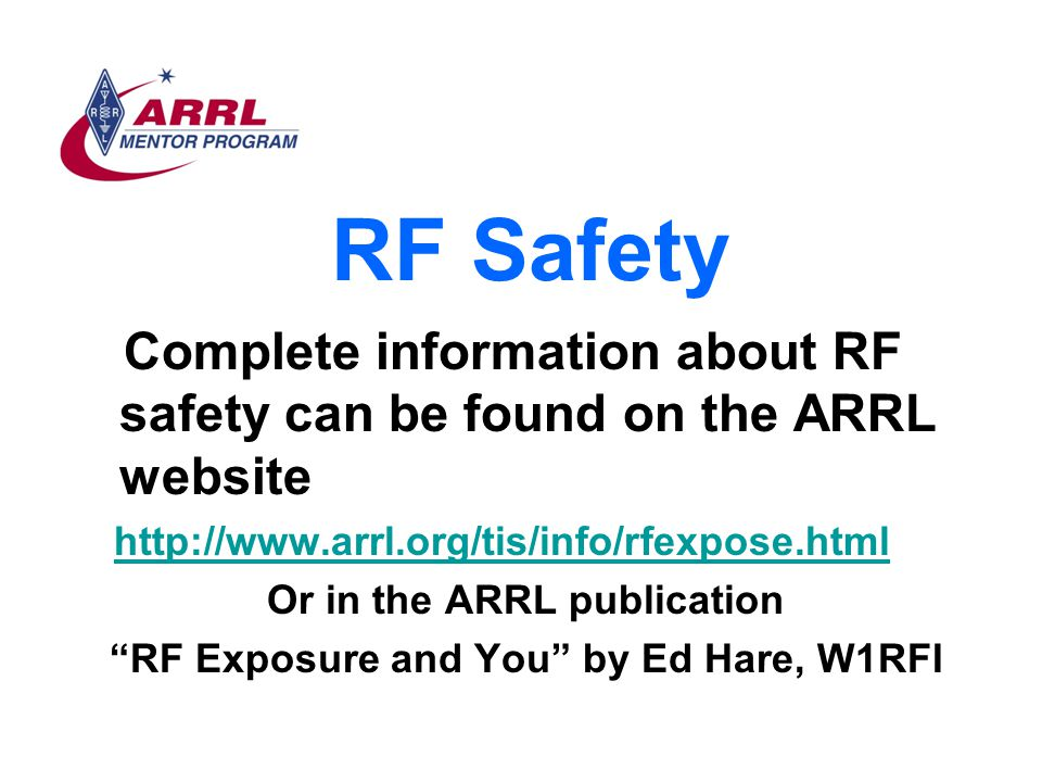Or in the ARRL publication RF Exposure and You by Ed Hare, W1RFI