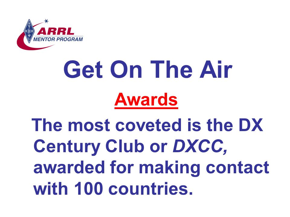 Get On The Air Awards.