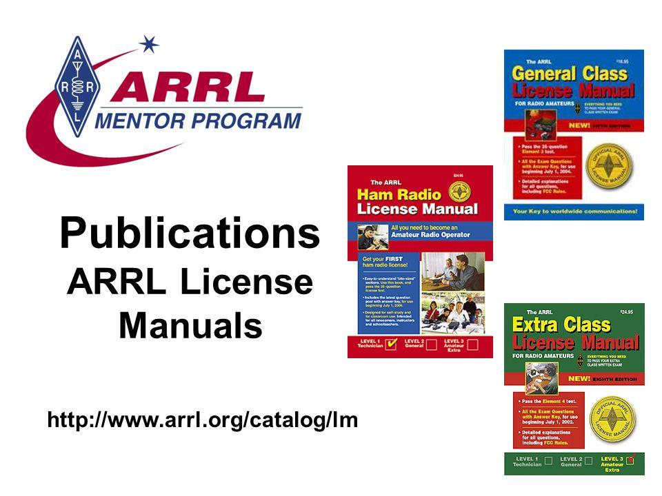 Publications ARRL License Manuals