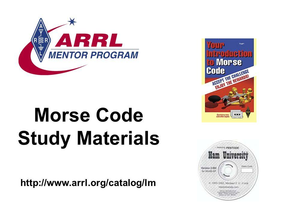 Morse Code Study Materials